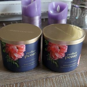 2 Perfect Peony Candles